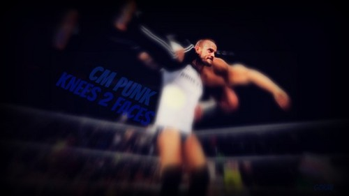 CM PUNK KNEES 2 FACES WALLPAPER 2013