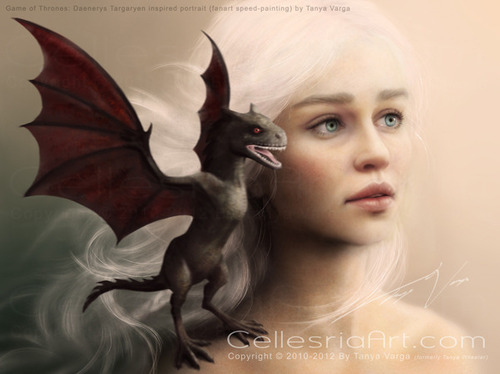 Dany with dragon