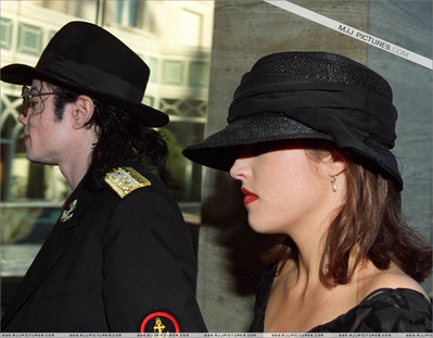Michael And Lisa Mari In Paris Back In 1994
