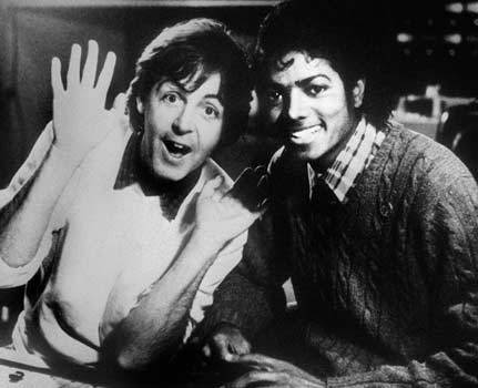 Michael And Paul McCartney In The Recording Studio