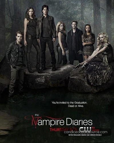 "New ""The Vampire Diaries"" season 4 promotional poster."