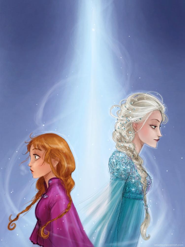 Anna and Elsa - Frozen Fan Art (34564297) - Fanpop