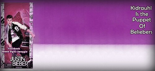 BG for Twitter : Justin Bieber Purple Puppet