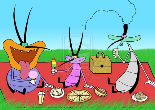 Cockroaches' picnic
