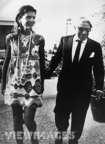 Jacqueline Kennedy Onassis and Aristotle Onassis