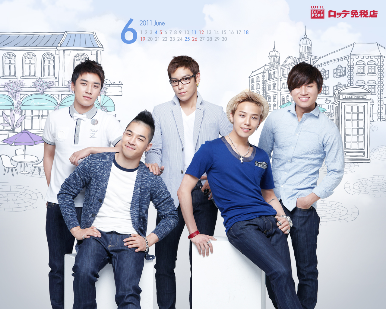 Lotte Duty Free Official 壁紙 Calendar Bigbang 壁紙 34505017