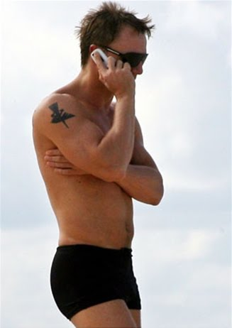 Daniel Craig With condor Tattoo