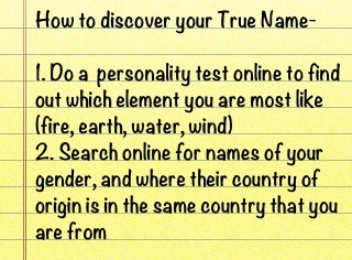 How to find out your True Name