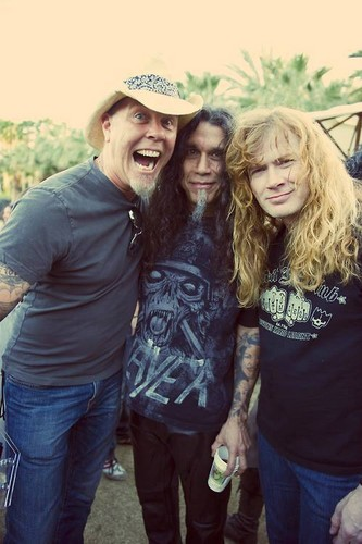 James, Tom Araya and Dave Mustaine