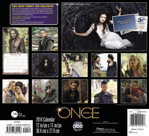 Once Upon A Time 2014 muro Calendar