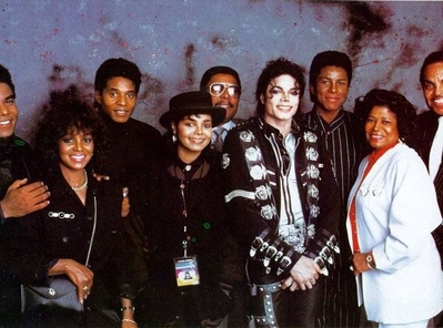 The Jackson Family Backstage Back In 1989