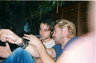 colin farrell and adonis kapsalis in greece