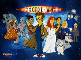 doctor who cartoon style