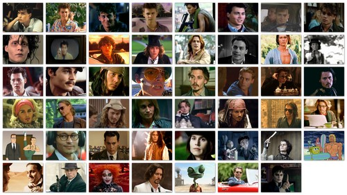 All JDepp's Roles!