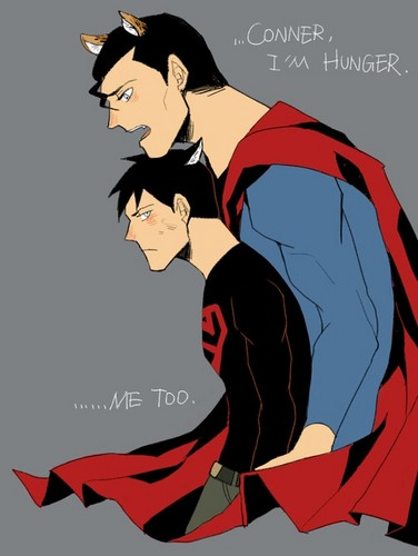Cat Superman and Cat Superboy