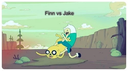 Finn Beating Up Jake (For Finn Фаны only)