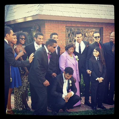 Jackson family at the wedding of Taj Jackson