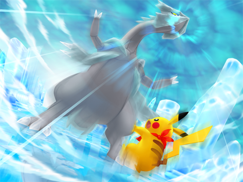 Kyurem and Pikachu