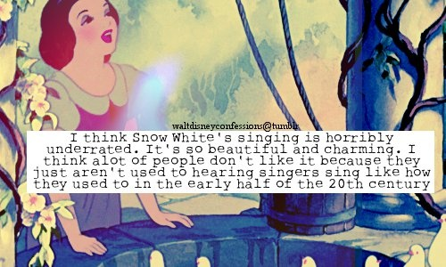 Snow White's singing