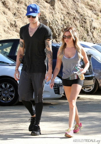 Ashley & Chris out in Hollywood Hills