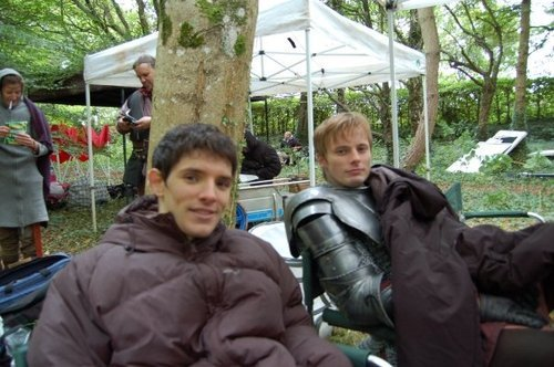B&C on set of Merlin