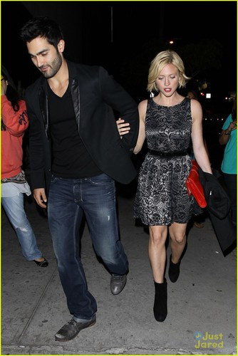 Brittany Snow and Tyler Hoechlin leaving Bootsy Bellows on Friday night (May 10)