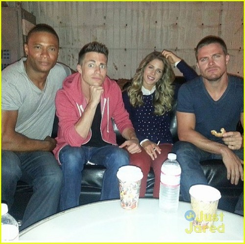 Colton Haynes and Arrow cast