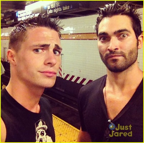 Colton Haynes and Tyler Hoeclin
