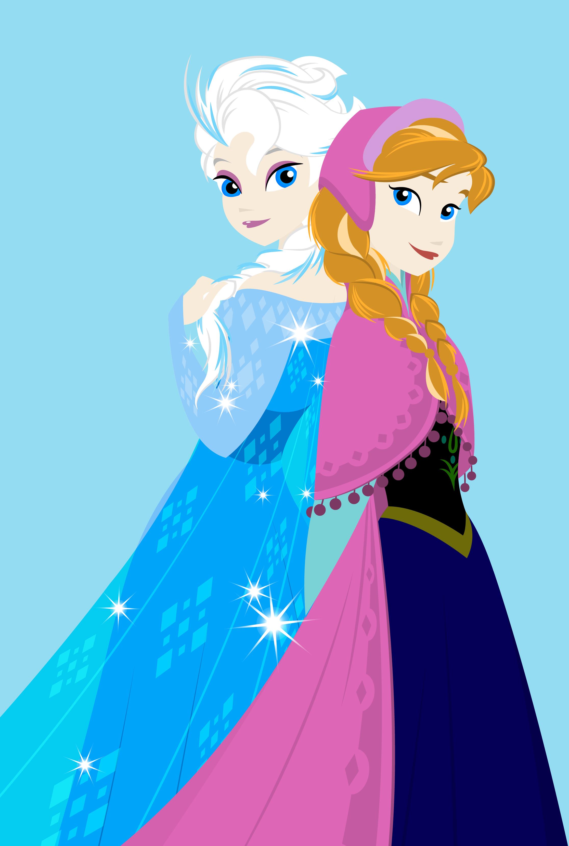 Elsa and Anna - Frozen Fan Art (34893688) - Fanpop
