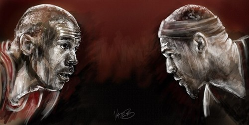 Michael Jordan digital painting