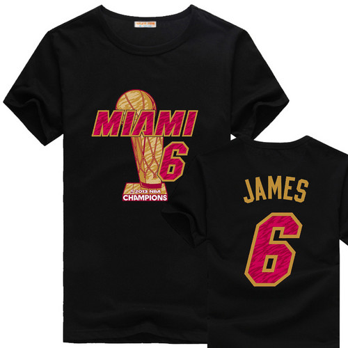 NBA Miami Heat Lebron James 6 logo new style t कमीज, शर्ट