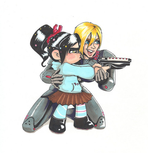 Vanellope and Calhoun