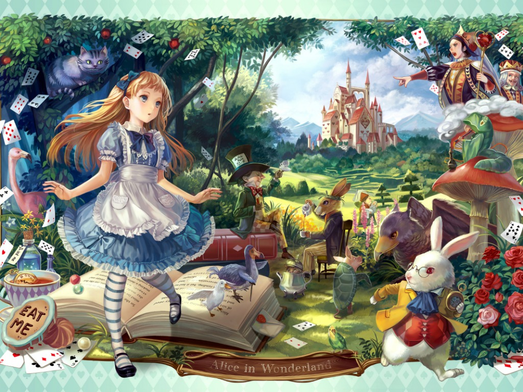 Alice In Wonderland Wallpaper Anime Girls Wallpaper 34976809