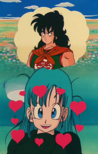 Bulma is thinking about Yamcha