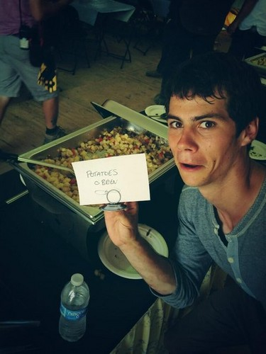Cast Pics from filming Maze Runner