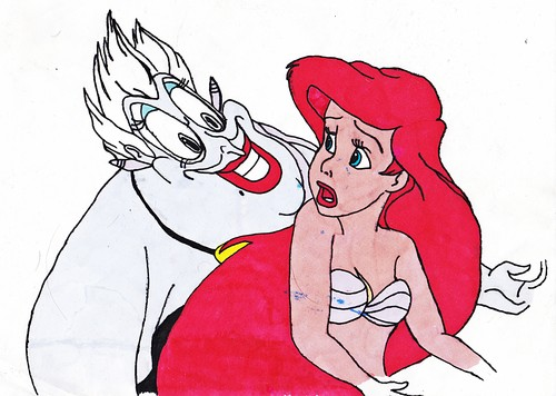 Walt disney fan Art - Ursula & Princess Ariel