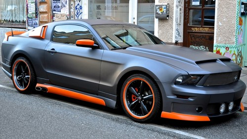 Amazing Mustang parked.