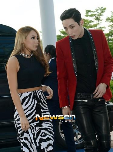 CL and model Lee Soo Hyuk at Mnet 20's Choice Awards