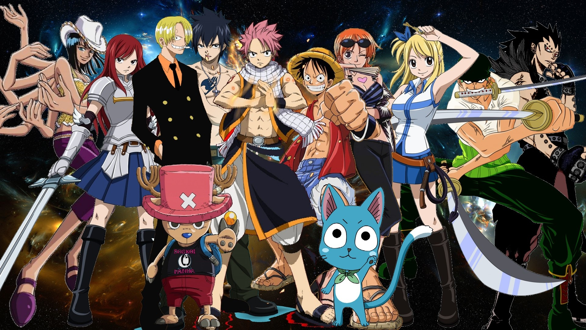 anime loverz images fairy tail and one piece hd wallpaper and