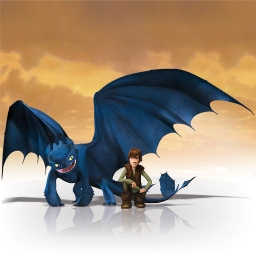 Hiccup and Toothless from HTTYD