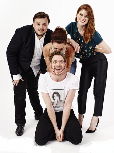 John Bradley, Michelle Fairley, Richard Madden, and Rose Leslie