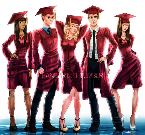 TVD Graduation topi and gaun