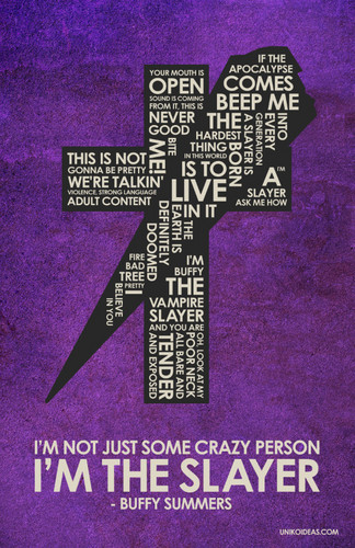 Buffy Quote Poster