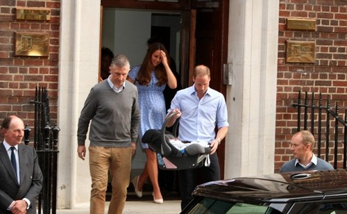 Kate Middleton and Prince William Show Off Their Baby
