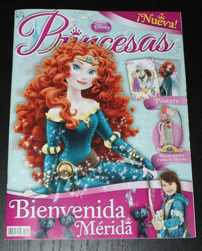 Merida in Spanish Дисней Princess magazine