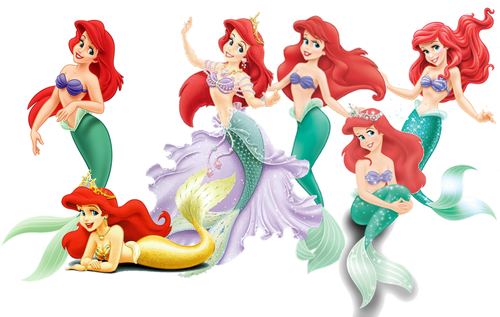 Mermaid Ariel Evolution