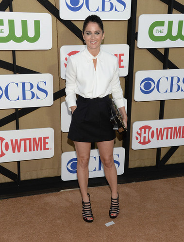 Robin Tunney at CW, CBS And Showtime 2013 Summer TCA Party