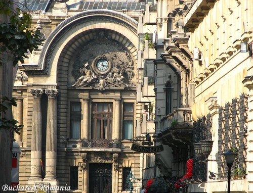 CEC building architecture Bucharest Romania Bucuresti