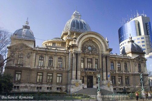 CEC palace Bucharest Romania Bucuresti Eastern ইউরোপ