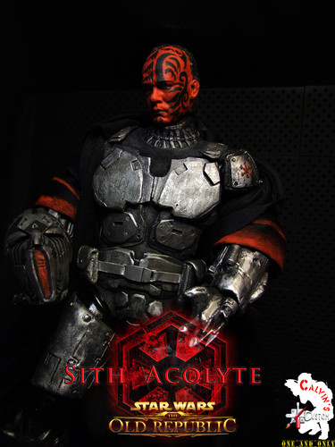 Calvin's Custom One Sixth Starwars the old republic SITH ACOLYTE figure